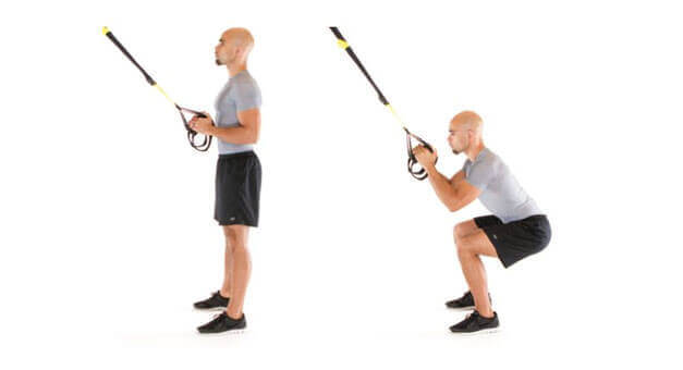 How to do TRX squats and have strong and explosive legs