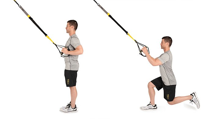 TRX lunges variations