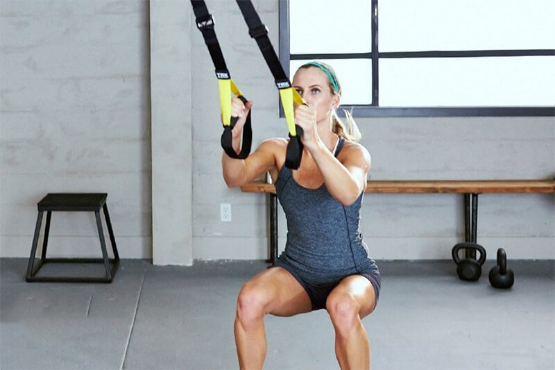 trx squat variation