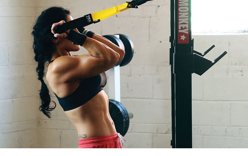 TRX biceps curls