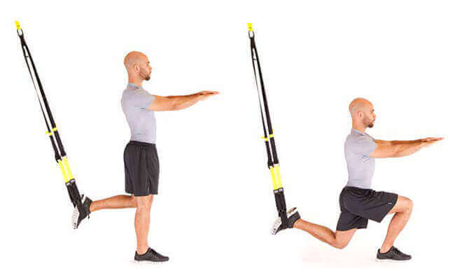 TRX Lunge exercise