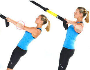 TRX high row exercise