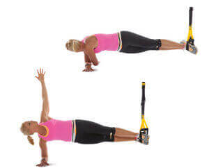 TRX Side Plank with rotate