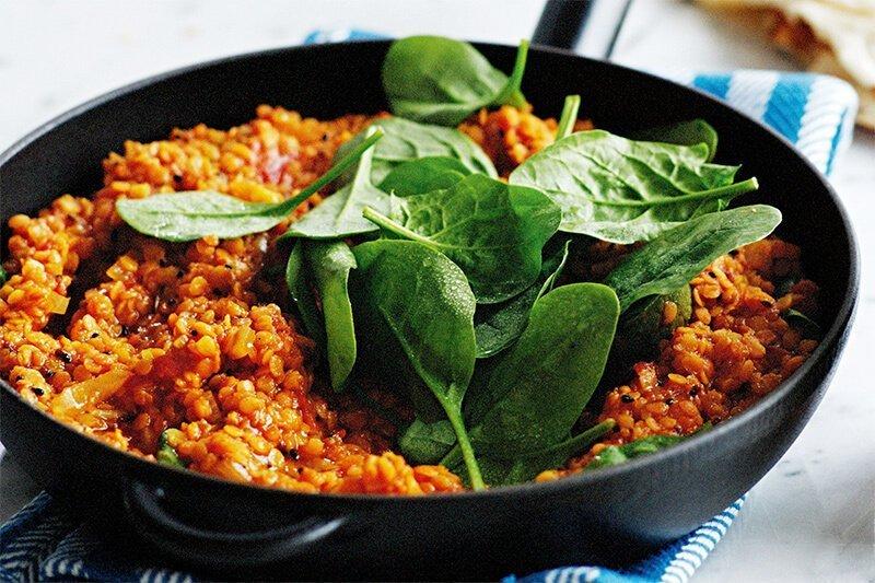 red lentil dal protein